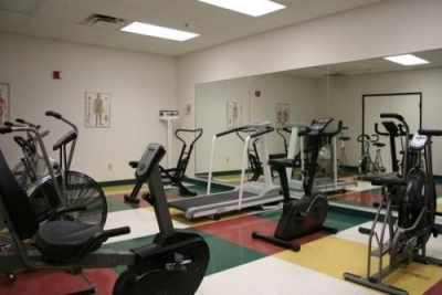 Fitness center at The Craig